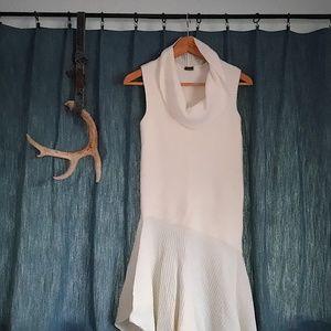 Dresses & Skirts - White Cowl-Neck Asymmetrical Flowy Dress